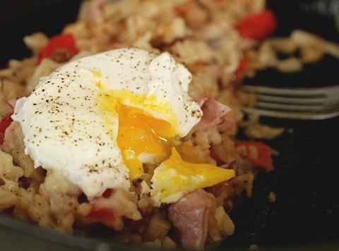 ham and red pepper hash