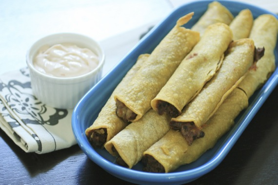 Crispy Baked Black Bean Taquitos