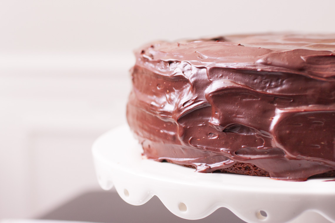 Chocolate Ganache Cake with Raspberry Filling-1