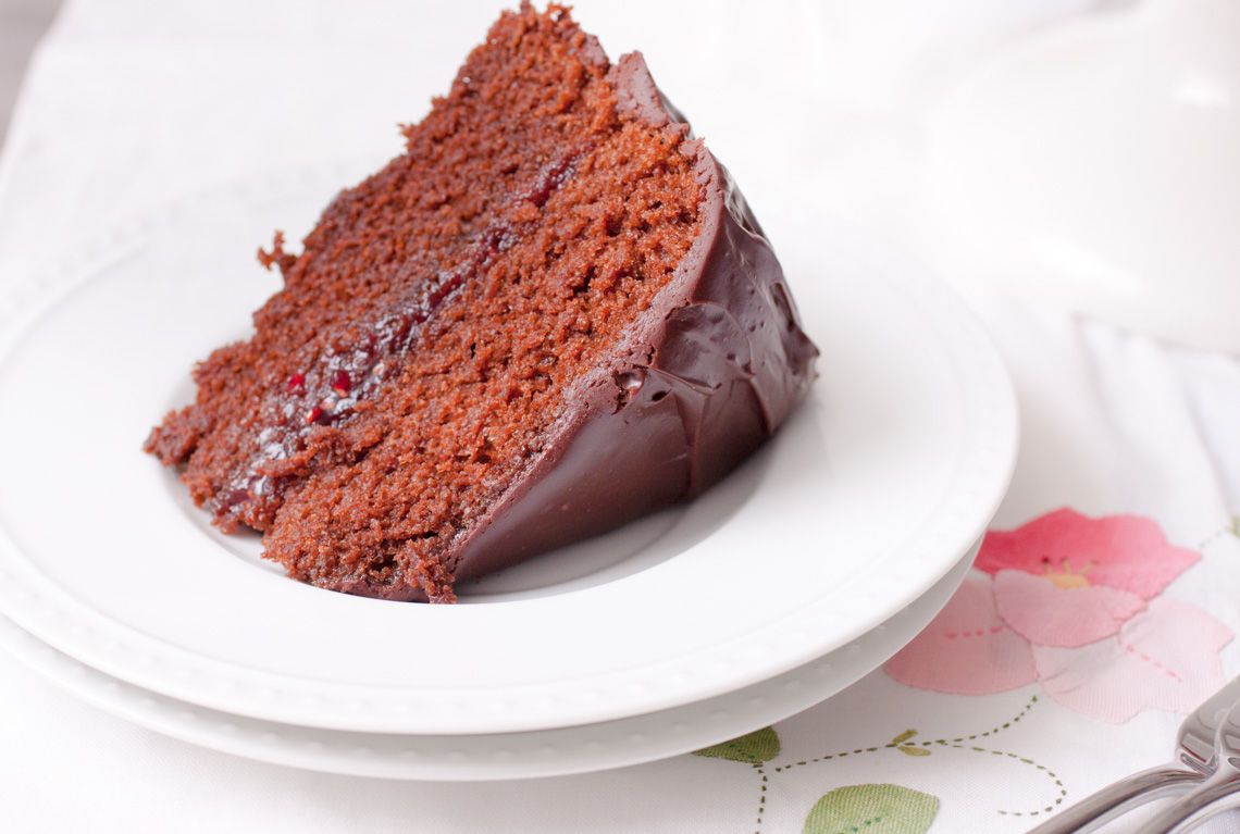 Chocolate Ganache Cake with Raspberry Filling-2