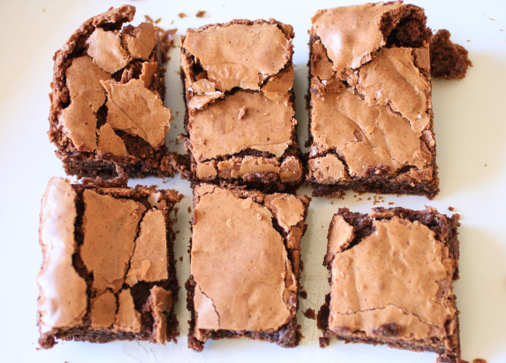 Fudgy Homemade Brownies-3