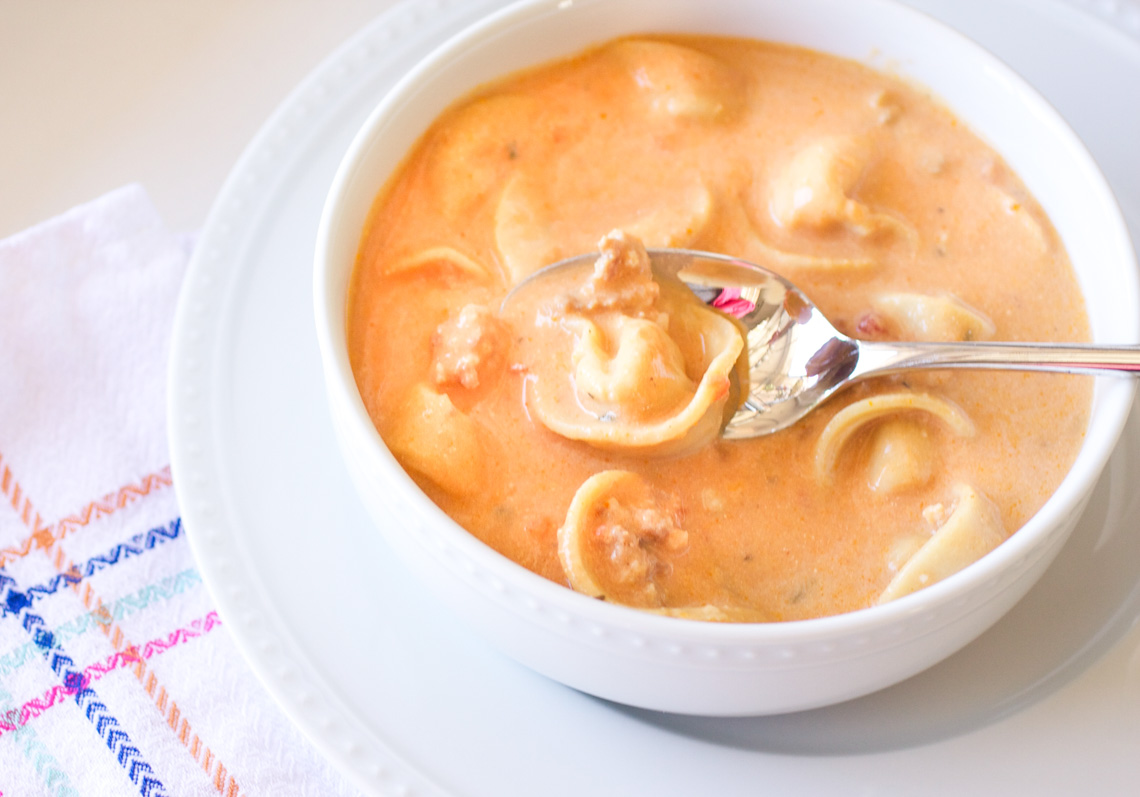 Tuscan Sausage and Tortellini Soup